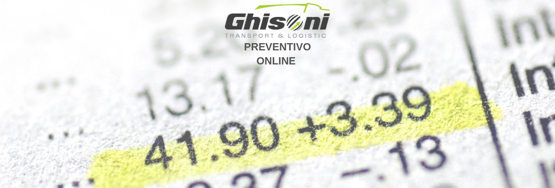 RICHIESTA PREVENTIVO DI TRASPORTO Ghisoni Transport & Logistic